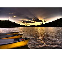 Yellow Canoes Photographic Print
