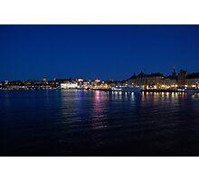Stockholm at Night Photographic Print