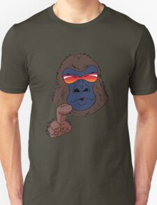 Cool gorilla with red sunglasses  Unisex T-Shirt