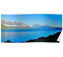 The lake at Queenstown, South Island, New Zealand Poster