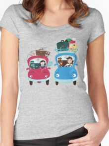 Road Meeting Women's Fitted Scoop T-Shirt
