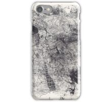 Entwined Bodies - Monotype + Ink Drawing iPhone Case/Skin