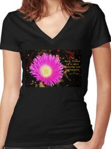 Natures Beauty Women's Fitted V-Neck T-Shirt