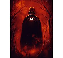 Heart Vader Photographic Print