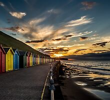 Whitby Beach Huts by Dave Hudspeth