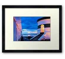 Dili Lighthouse at dusk Framed Print