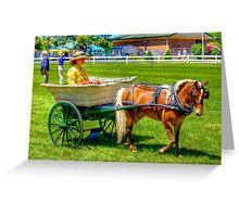 Nanny Cart Greeting Card