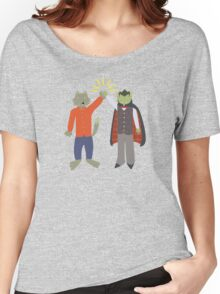Vampire and Werewolf High Five Women's Relaxed Fit T-Shirt