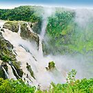 The massive Barron Falls waterfall in flood by Johan Larson