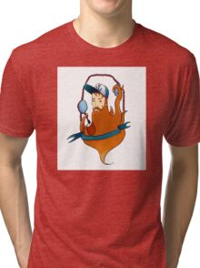 Funny ginger-beared man Tri-blend T-Shirt