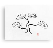 Simple Bonsai Sumi Metal Print