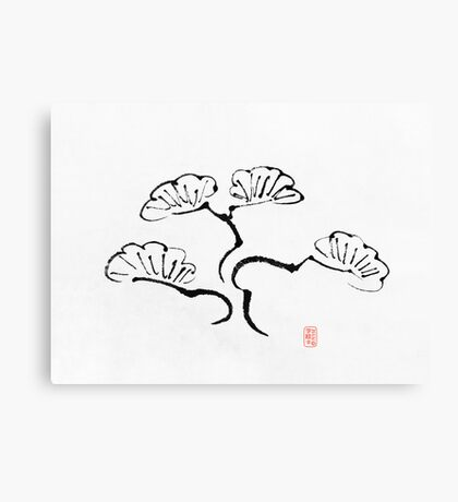 Simple Bonsai Sumi Canvas Print