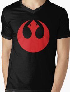 rebel retro Mens V-Neck T-Shirt