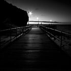 Second Valley Jetty in Mono by KathyT