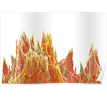 Multicolored Sound waves and peaks Poster