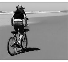 Bicycle on the Beach Photographic Print