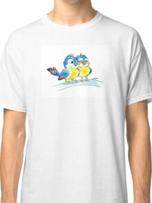 Romantic love 2 bluebirds couple Classic T-Shirt
