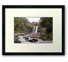Tawhai falls Framed Print