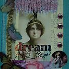Dream Girl with Tree Collage by jessica campbell