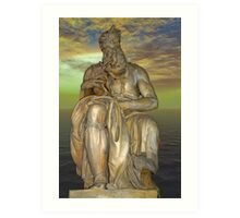 Statue of Moses by Michelangelo Art Print