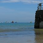 Boats Between Sea and Sky at Swanage by Ian Ker