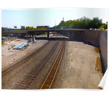 Railroad Tracks, Kansas City Tilt-Shift Poster