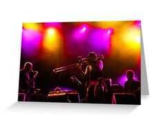 Jazz Trio - Musical Capriccio in Purple and Yellow Greeting Card
