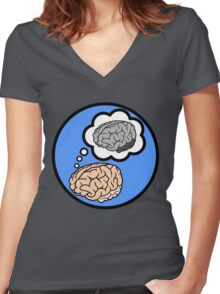 Metacognition Women's Fitted V-Neck T-Shirt