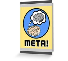 Metacognition Greeting Card