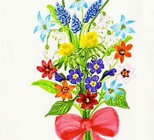 Floral Art GRAPE HYACINTHS by ptmart