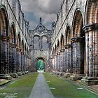 North to South . Kirkstall Abbey , West Yorkshire UK by Irene  Burdell