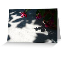 Red Shadow Greeting Card