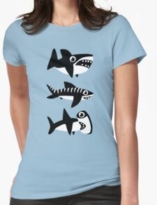 Dumb Sharks Womens Fitted T-Shirt