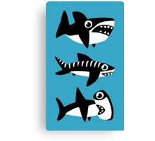 Dumb Sharks Canvas Print