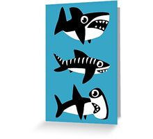 Dumb Sharks Greeting Card