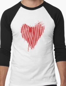 Vintage Cool Grunge Heart - Love Valentine Heart T-Shirt Men's Baseball ¾ T-Shirt