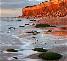 Hunstanton cliffs at Sunset, Norfolk by DaveTurner