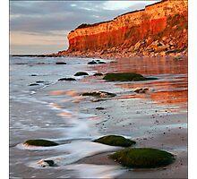 Hunstanton cliffs at Sunset, Norfolk Photographic Print