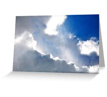 Sky and it's rays Greeting Card