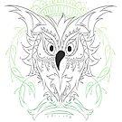 Custom Tattoo Design 2015 Owl by Junior Mclean