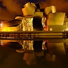 Bilbao Space Ship Bilbao Guggenheim at night by DavidGutierrez