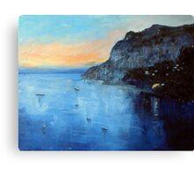 Evening moorings Canvas Print