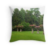 Flowery Fairytale Woods Throw Pillow