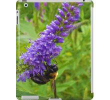 Honey Bee on Purple Flowers  iPad Case/Skin