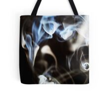 Abstract smoke pattern on black background Tote Bag