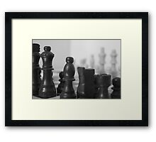 Chess Board on Mirror Framed Print