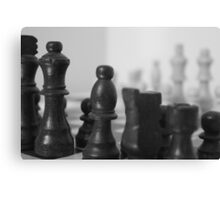 Chess Board on Mirror Canvas Print