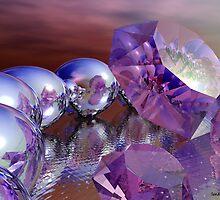 Amethysts and Pearls by Sandra Bauser Digital Art