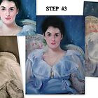 Evolution of a Portrait Step #3 by Cathy Amendola