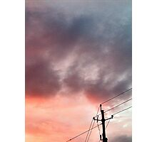 Telephone Pole And Color Photographic Print